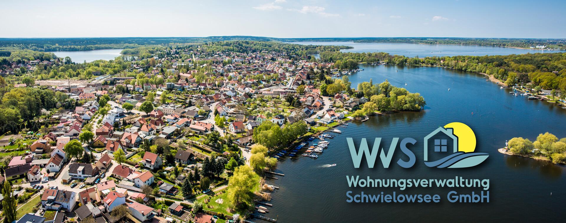 Luftaufnahme von den drei Ortsteilen Caputh, Frech und Geltow der Gemeinde Schwielowsee